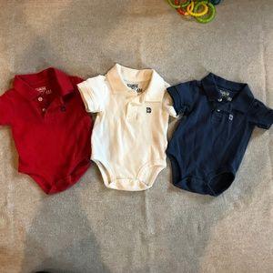 Set of 3 OshKosh boy polos, 3-6 months
